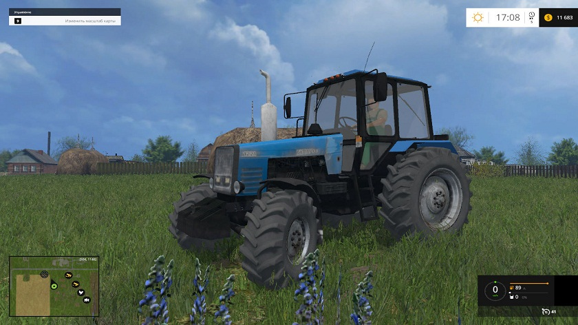 трактор МТЗ-1221 для Farming Simulator 2015