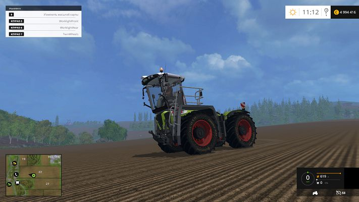 Большой трактор Claas Xerion 3800 Saddle для FS15