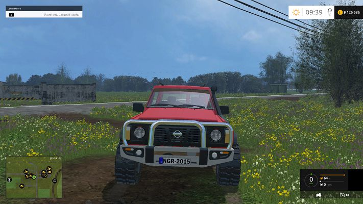 Мод автомобиля Nissan Patrol GR для Farming Simulator 2015