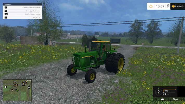 Мод John Deere 4020 FL v 3.0 для Farming Simulator 2015