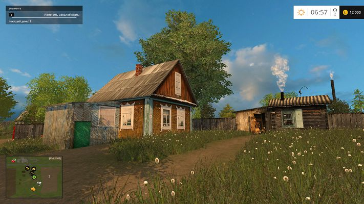Карта Колхоз «РОССИЯ» д. Балдейкино для Farming Simulator 2015