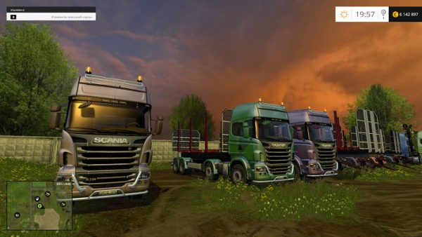 Пак Scania R730 Forest & Trailer v 2.0 для FS15
