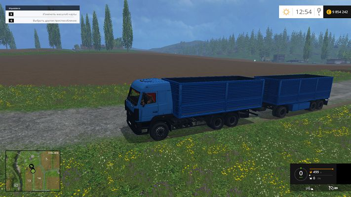 Мод Маз 6312а8 & Сзап 83053 для Farming Simulator 2015