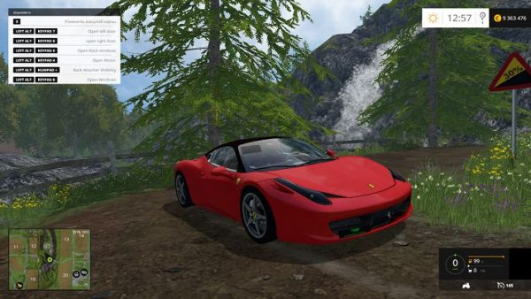 Мод Ferrari 458 v 1.0 для Farming Simulator 2015