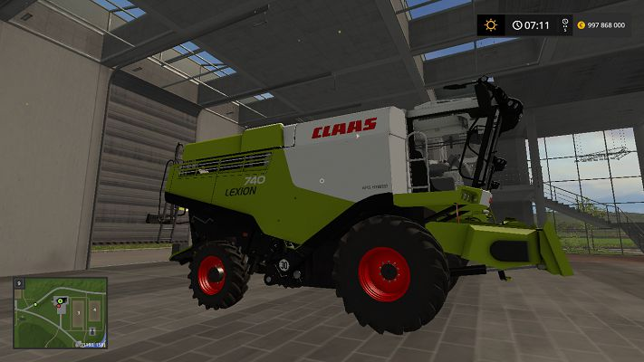 Мод Claas Lexion 700 STAGE IV Pack v 1.4 для FS17