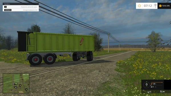 Прицепа Fliegl 4 axle Rear Tipper для Farming Simulator 2015