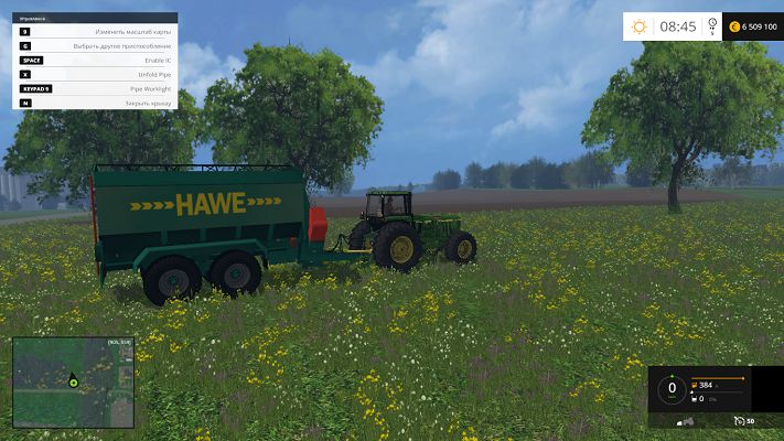 Прицеп Hawe ULW 2600T v 1.0 для Farming Simulator 2015
