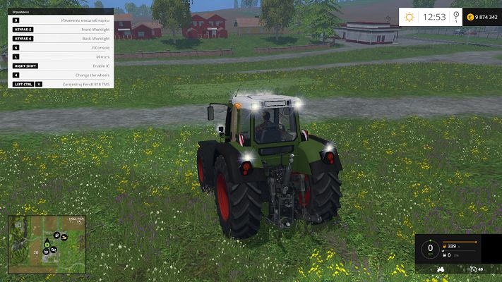 Мод Fendt 818 Vario TMS v 1.0 для Farming Simulator 2015