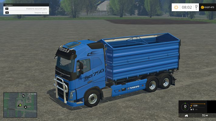 Мод Volvo FH16 v 1.0 для Farming Simulator 2015